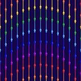 prydd med pärlor gardin vektor illustrationer