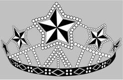 Prydd med pärlor krona Royaltyfri Fotografi