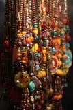 prydde med pärlor halsband royaltyfri foto
