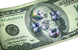 pryder med ädelsten pengar Royaltyfri Foto