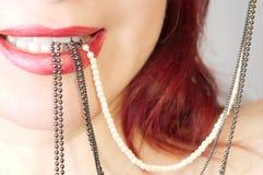 Pryder med pärlor Royaltyfri Bild