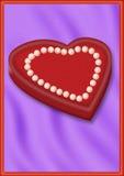 Pryder med pärlor hjärta Royaltyfri Foto