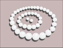 Pryder med pärlor illustrationen Arkivbild
