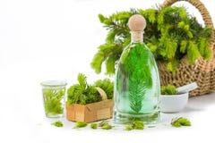 Prydlig visarbad, medicinalväxter royaltyfri bild