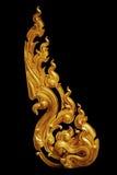 Prydnad av guld blom- pläterad tappning Royaltyfri Foto