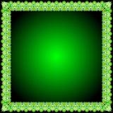 Prydnad för abstrakt begrepp för ramBatikgräsplan för gräns Royaltyfri Foto