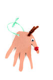 Prydnad för jul för barn` s handgjord Arkivbild