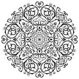 Prydnad för modell för arabisk Batikcirkel blom- Arkivfoton