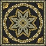 Prydnad för traditionell tappning för vektor guld- grekisk (mig royaltyfri illustrationer