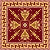 Prydnad för traditionell tappning för vektor guld- grekisk (mig stock illustrationer