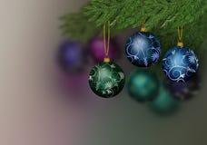 Prydnad för tre jul Royaltyfria Bilder