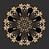 Prydnad för vektorguldrunda Royaltyfri Bild