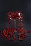 Prydnad i ett exponeringsglas Arkivfoto