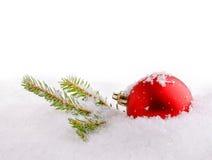 Prydnad i snön Fotografering för Bildbyråer