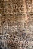 Prydnad inre Angkor Wat Arkivfoto