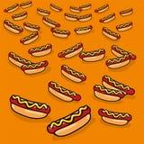 Prydnad med många hotdogs Royaltyfri Bild