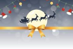 Prydnad och santa för julkort röd stock illustrationer