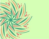 Prydnad på ett ljus - grön bakgrund stock illustrationer