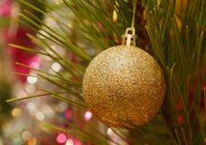 Prydnad på julgranen Fotografering för Bildbyråer