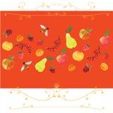 Prydnad som är baserad på frukter Fotografering för Bildbyråer