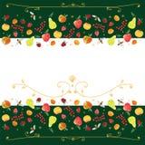 Prydnad som är baserad på frukter Royaltyfri Foto
