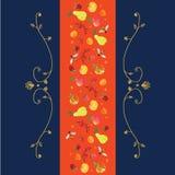Prydnad som är baserad på frukter och krullning Royaltyfria Foton