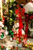 prydnadar för handbell för jul för bollaskfilial Royaltyfri Fotografi