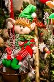 prydnadar för handbell för jul för bollaskfilial Royaltyfria Bilder
