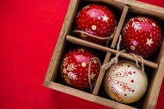 prydnadar för handbell för jul för bollaskfilial Royaltyfria Foton