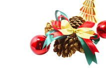 prydnadar för handbell för jul för bollaskfilial fotografering för bildbyråer