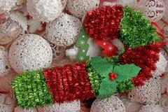 prydnadar för handbell för jul för bollaskfilial Arkivfoto