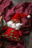 prydnadar för handbell för jul för bollaskfilial _ toys Santa Claus; Stearinljus; Gåvor; Arkivfoto