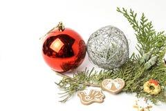 prydnadar för handbell för jul för bollaskfilial _ toys Santa Claus; Stearinljus; Gåvor; Fotografering för Bildbyråer