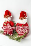 prydnadar för handbell för jul för bollaskfilial _ toys Santa Claus; Stearinljus; Gåvor; Arkivbild