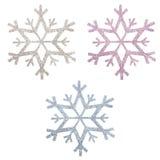 Prydnadar för Snowflingajul Arkivfoton