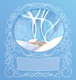 Prydnadbakgrund av titten ett bukort Royaltyfria Bilder