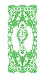 Prydnadbeståndsdelar, gröna blom- designer för tappning Royaltyfri Foto