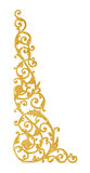 Prydnadbeståndsdelar, guld- blom- designer för tappning Royaltyfri Foto