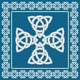 Prydnaden för det keltiska korset, symboliserar evighet, vektorillustration arkivfoton