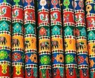 Prydnader för torkduk för tempelfestivalratha arkivfoto