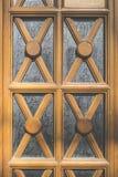 Prydnader på dörr royaltyfria foton