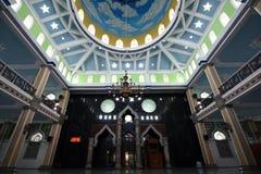 Prydnader på Trenggalek den stora moskén arkivbild