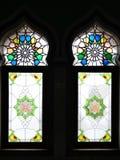 Prydnader på Trenggalek den stora moskén royaltyfri fotografi