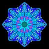 Prydnadfärgkort med mandalaen dekorativ elementtappning Hand dragen background3 Arkivbild