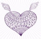 Prydnadlinje hjärtaform för din design Arkivbilder