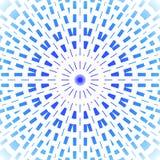 Prydnadljus för koncentrisk cirkel - blått och azurer på vit Royaltyfri Fotografi