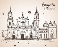Prymasowska katedra Bogota nakreślenie ilustracji