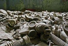 Prypiat - gasmaskers Stock Afbeelding