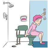 Prysznic ławka Zdjęcie Royalty Free