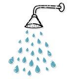 Prysznic głowa royalty ilustracja